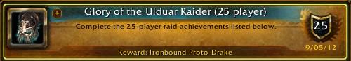 Glory of the Ulduar Raider (25 player) Complete!