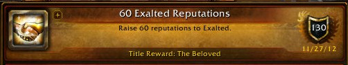 60 Exalted Reputations