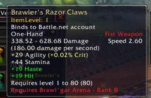 Brawler's Razor Claws