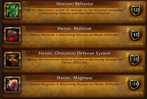 Heroic BWD Achievements