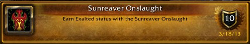 Exalted with the Sunreaver Onslaught