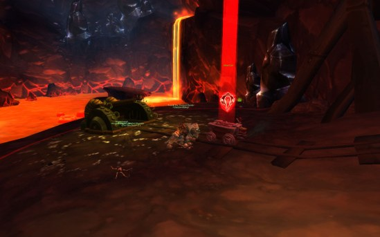 Escorting a cart in Silvershard Mines