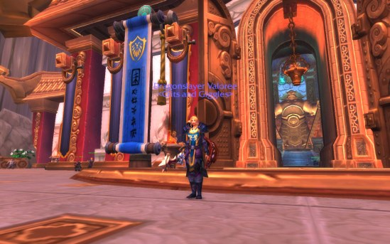 Val in front of the Shrine of Seven Stars