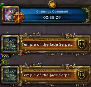 Temple of the Jade Serpent Challenger Time 04/14/13