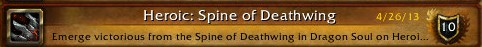 Heroic: Spine of Deathwing achievement