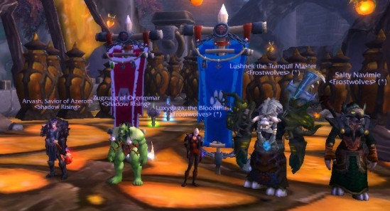 Arv, Zug, Luxy, Lush and Navi in Siege of Niuzao Temple