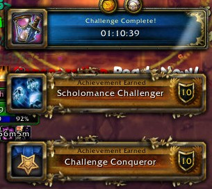 Scholomance Challenger and Challenge Conqueror
