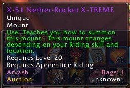 X-51 Nether-Rocket X-TREME Description