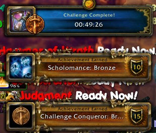 Scholomance Bronze and Challenge Conqueror Bronze 05/25/13