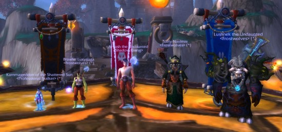 Karn, Luxy, me, Navi and Lush in Siege of Niuzao Temple