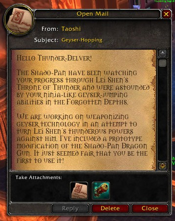 Letter from Taoshi